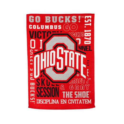 14ES973FR: EG Ohio State Fan Rules Garden Flag
