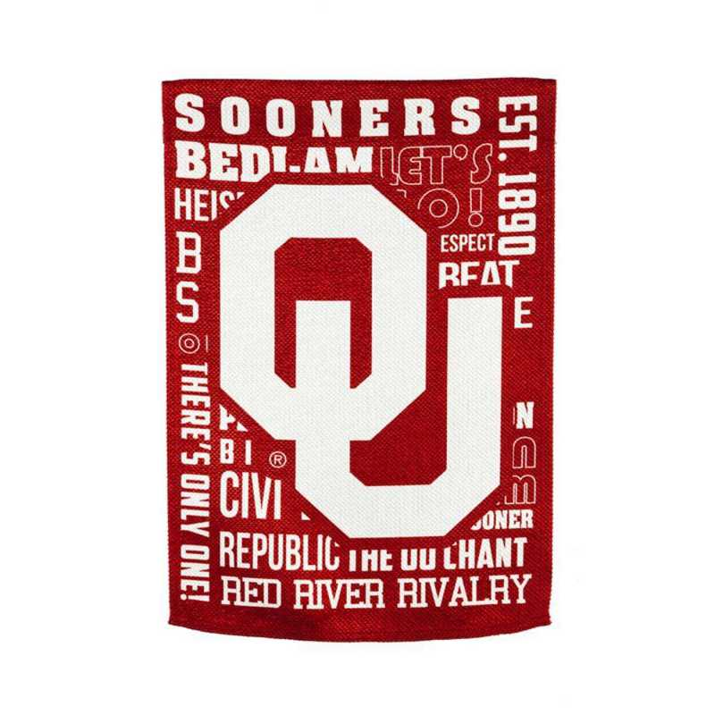 14ES974FR: EG Oklahoma Fan Rules Garden Flag