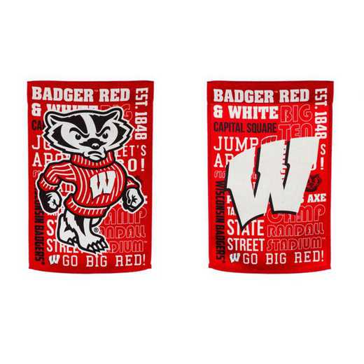 14ES984FR: EG Wisconsin Fan Rules Garden Flag