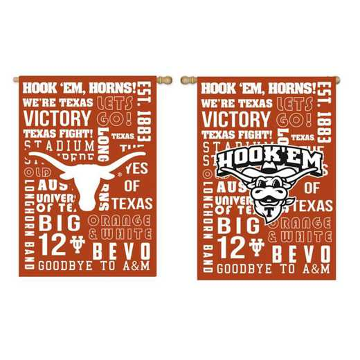 14ES999FR: EG Texas Fan Rules Garden Flag