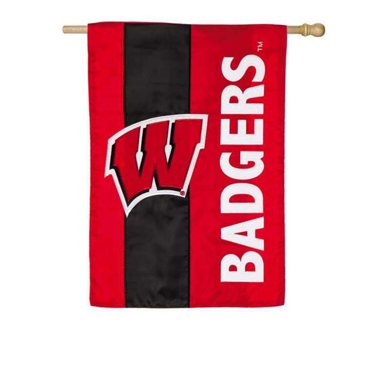 15SF984: EG Wisconsin Embellished Flag