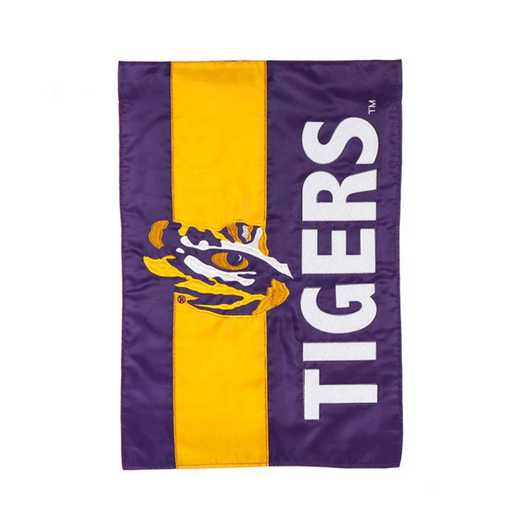 16SF921: EG LSU  Embellished Garden Flag