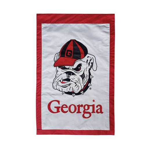 15914: EG Georgia Mascot Applique Flag