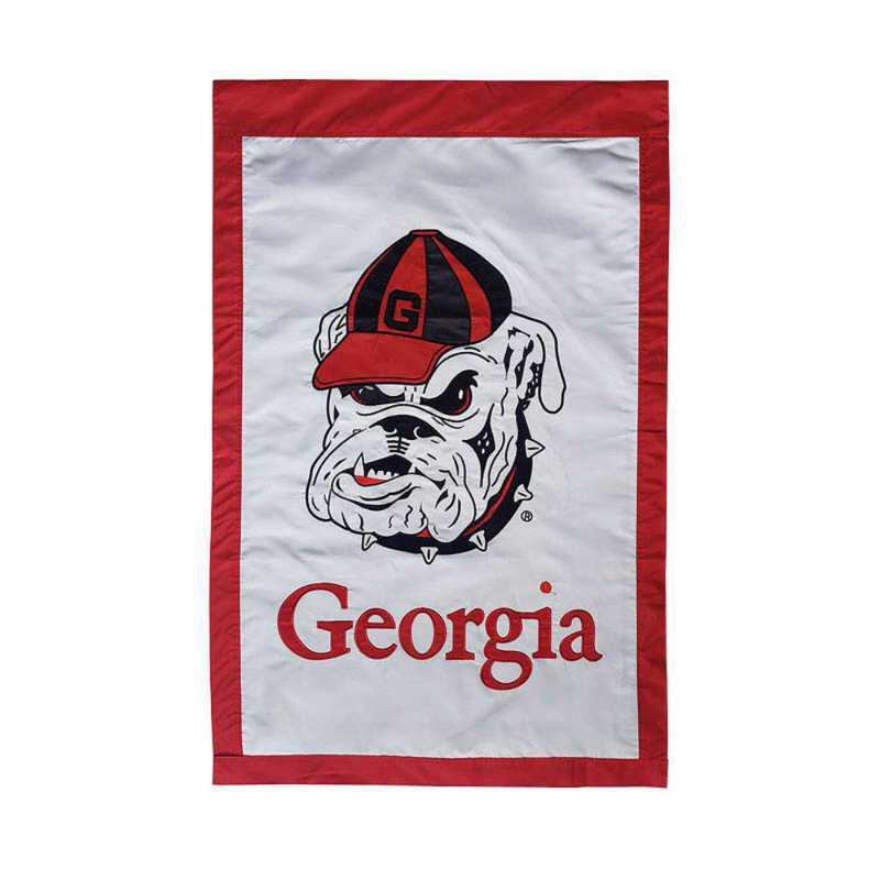 15914: EG Georgia Mascot Applique Flag