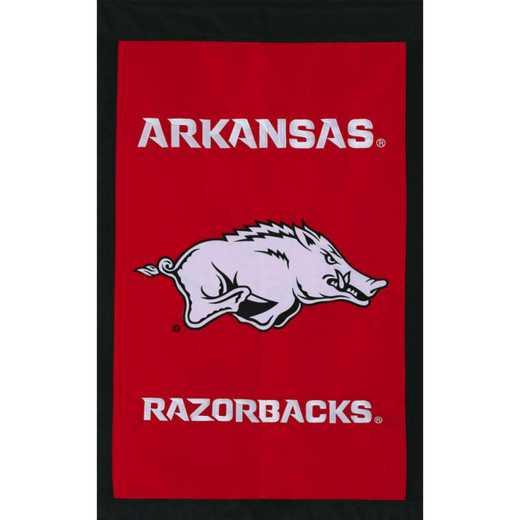 16911E: EG Arkansas Applique Garden Flag