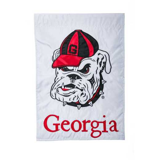 16914: EG Georgia Mascot Applique Garden Flag