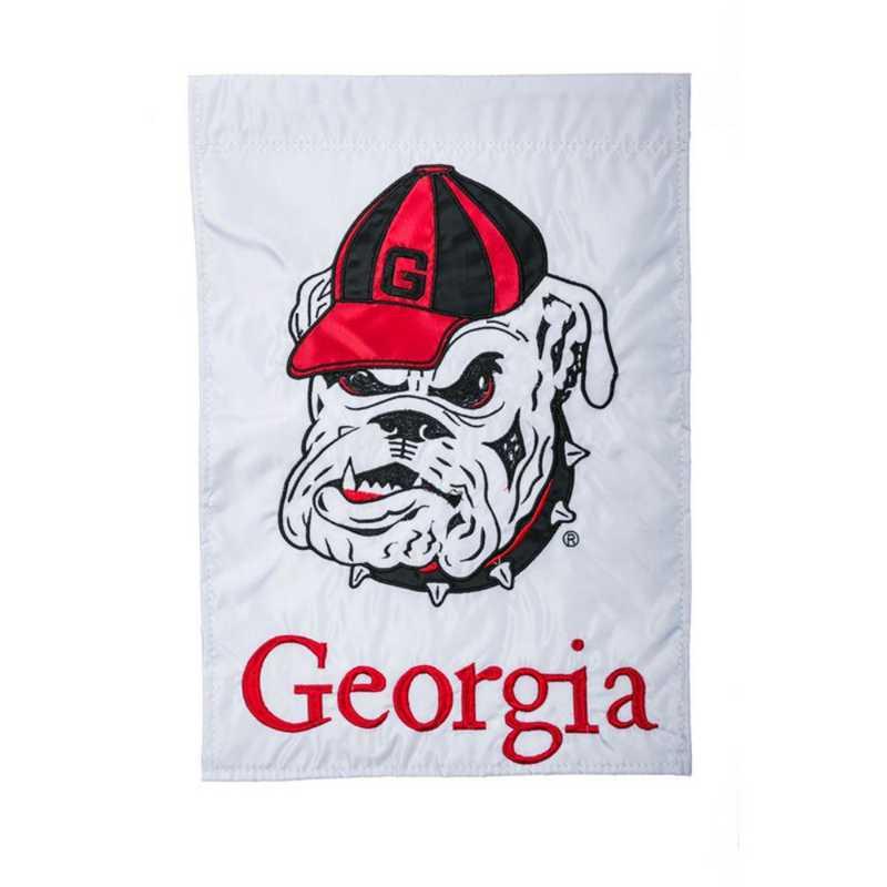16914: EG Georgia Mascot Applique Garden Flag