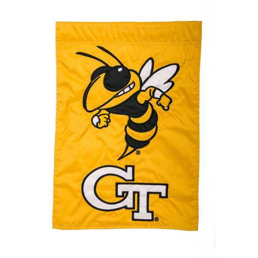 16919B: EG Georgia Tech Applique Garden Flag