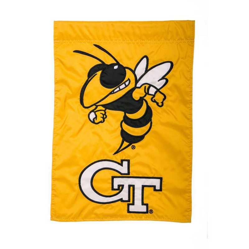 16919B: EG Georgia Tech Applique Garden Flag