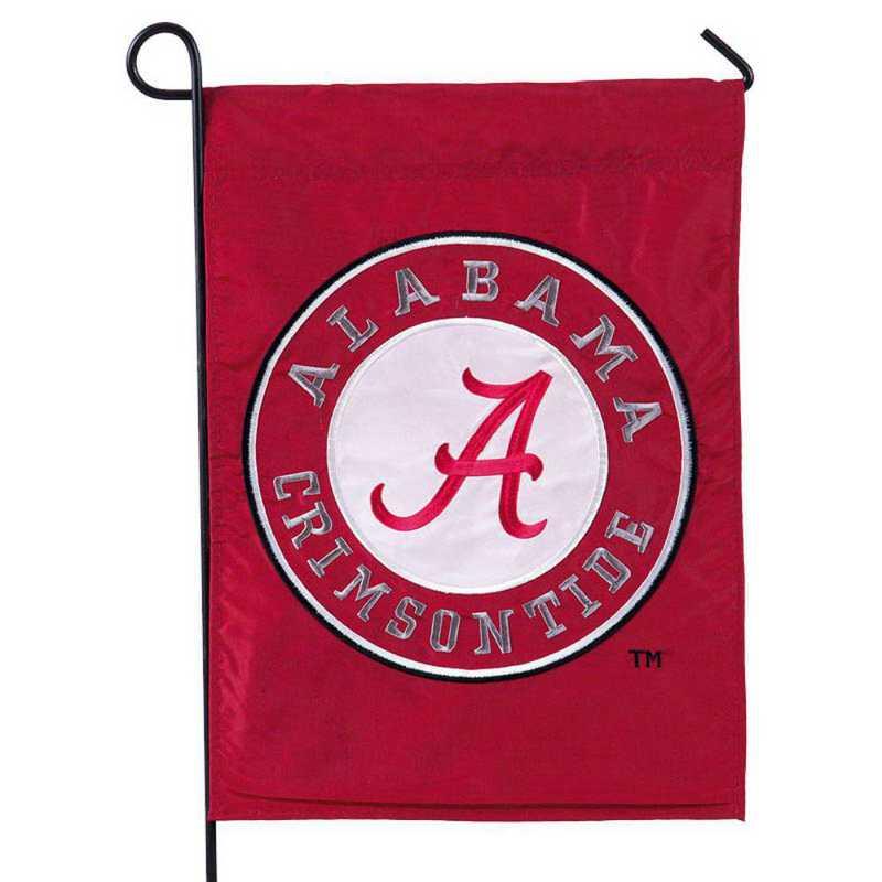 16924C: EG Alabama Circle Applique Garden Flag