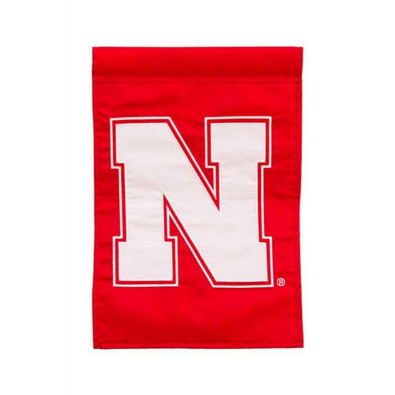 16949D: EG Flag Nebraska Applique Garden Flag