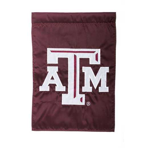 16969C: EG Texas A&M Applique Garden Flag