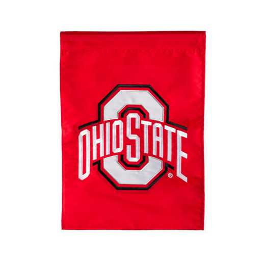 16973C: EG Ohio State Applique Garden Flag