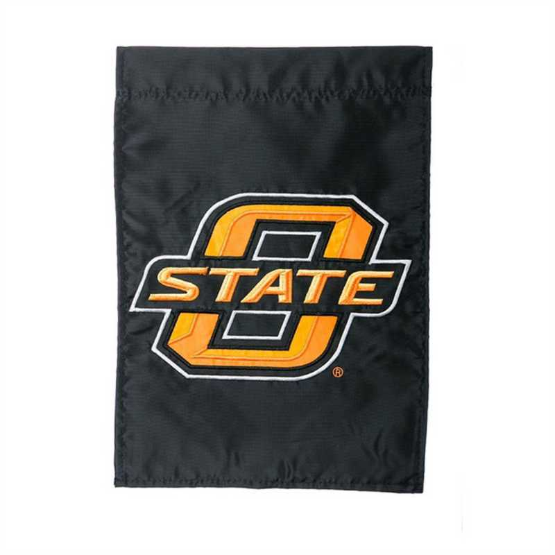 16975B: EG Okalhoma State Applique Garden Flag