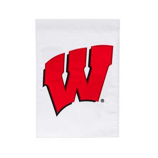 16984B: EG Wisconsin Applique Garden Flag