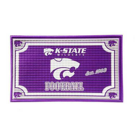 41EM943: EG Embossed Door Mat, Kansas State University
