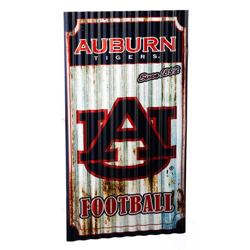 6M928: EG Auburn Corrugated Metal Wall Art