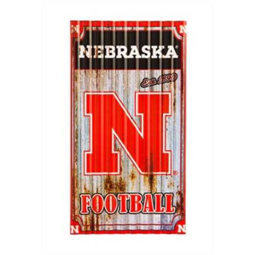6M949B: EG Nebraska Corrugated Metal Wall Art