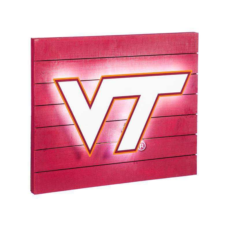 6WLT903: EG Lit Wall Decor, Virginia Tech