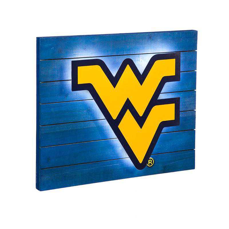 6WLT967: EG Lit Wall Decor, West Virginia University