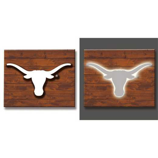 6WLT999B: EG Lit Wall Decor, University of Texas