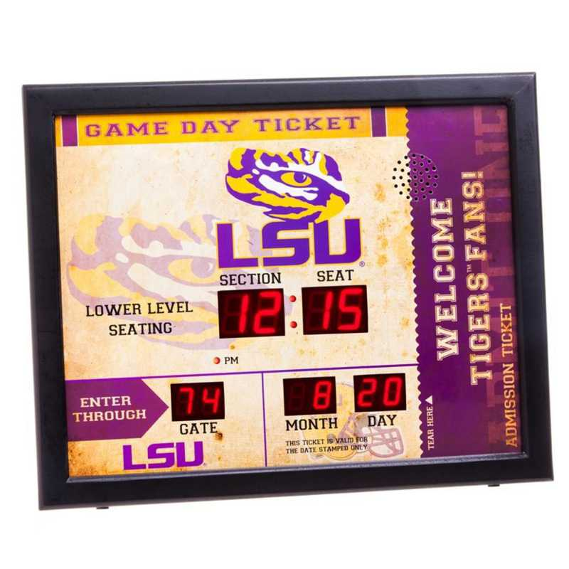 7CL921: EG BT SB WALL CLOCK, LSU