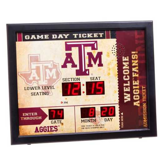 7CL969: EG BT SB WALL CLOCK, Texas A&M