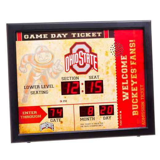 7CL973: EG BT SB WALL CLOCK, Ohio State
