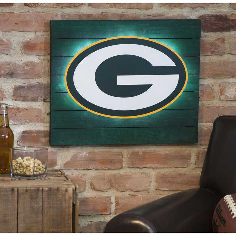 6WLT3811: EG Lit Wall Decor, Green Bay Packers