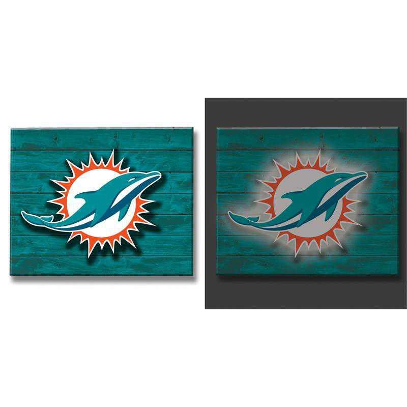 6WLT3816B: EG Lit Wall Decor, Miami Dolphins