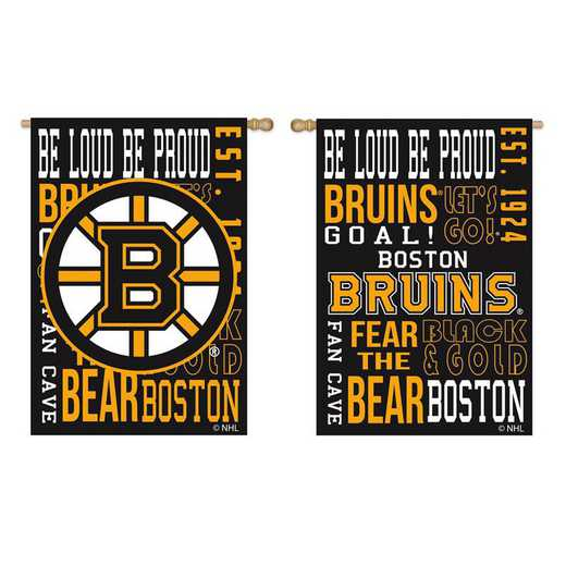 14ES4351FR: EG Fan Rules Garden Flag, Boston Bruins