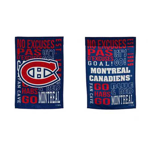 14ES4364FR: EG Fan Rules Garden Flag, Montreal Canadiens