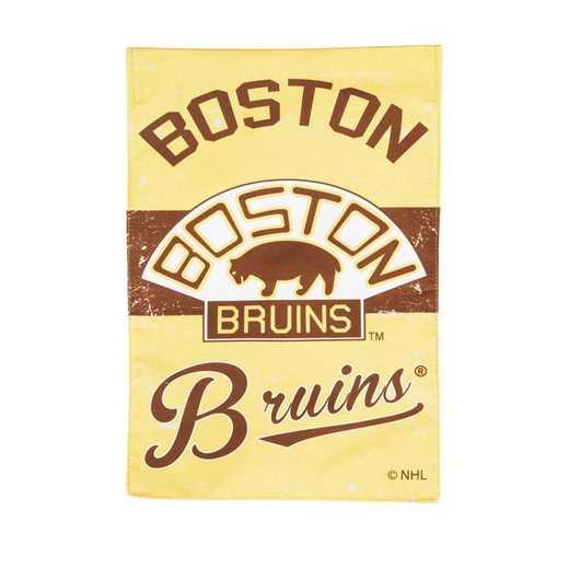 14L4351VINT: EG Vintage Linen Garden Flag, Boston Bruins