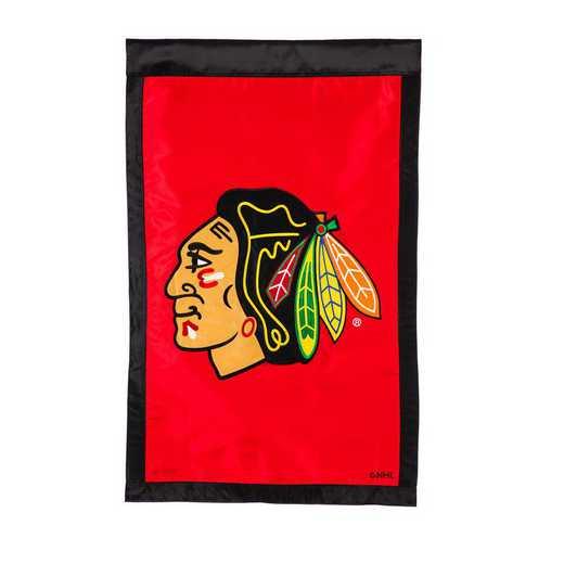 154355: EG Applique Flag, Chicago Blackhawks