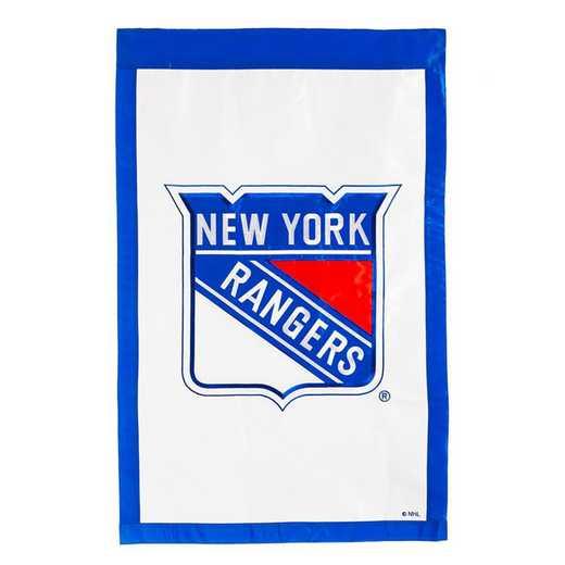 154368: EG Applique Flag, New York Rangers