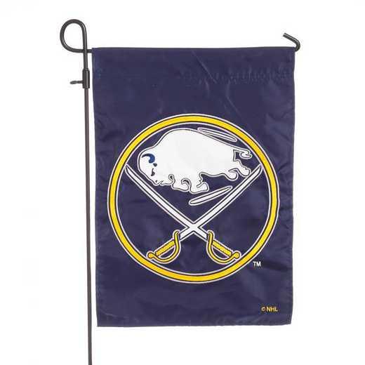 164352: EG Applique Garden Flag Buffalo Sabres