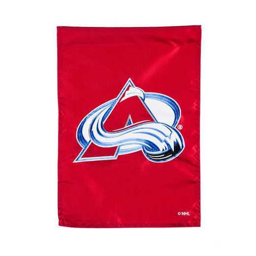 164356: EG Applique Garden Flag Colorado Avalanche