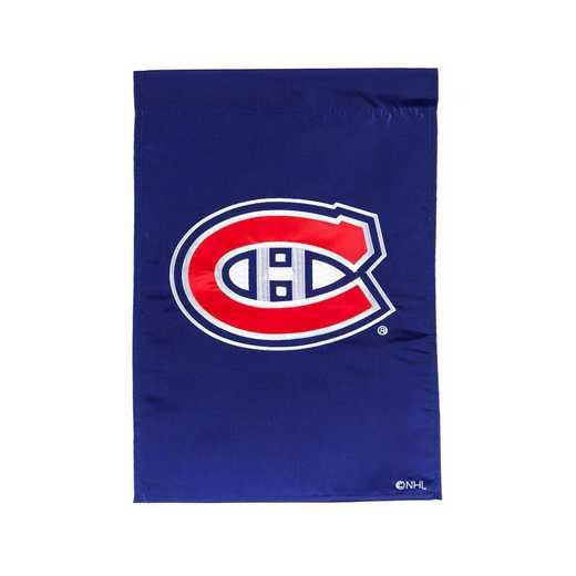 164364: EG Applique Garden Flag Montreal Canadiens