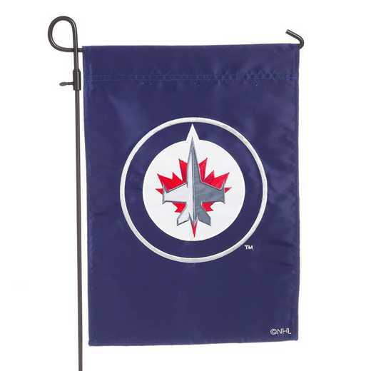 164379: EG Applique Garden Flag, Winnipeg Jets