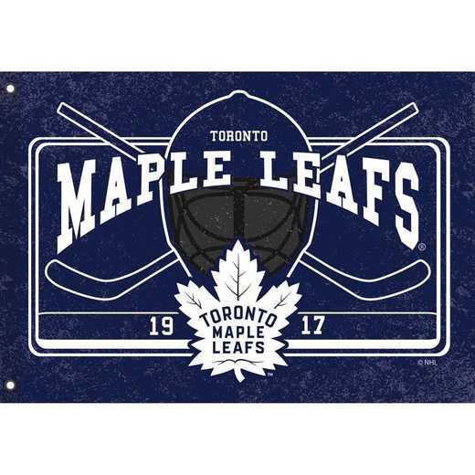 17L4376: EG Linen Estate Flag, Toronto Maple Leafs