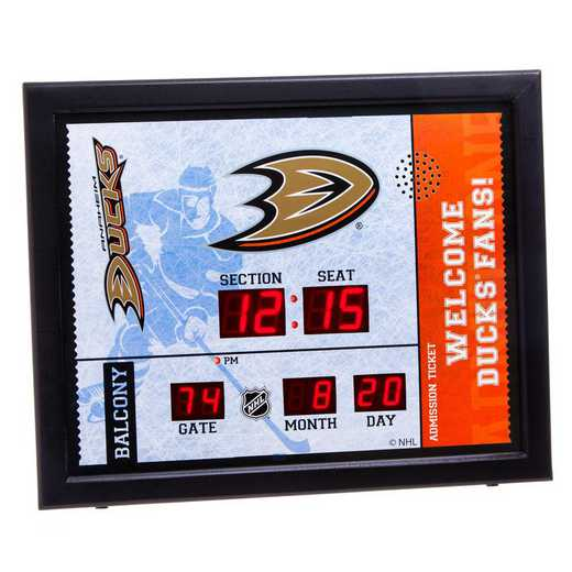 7CL4350: Bluetooth Scoreboard Wall Clock, Anaheim Ducks