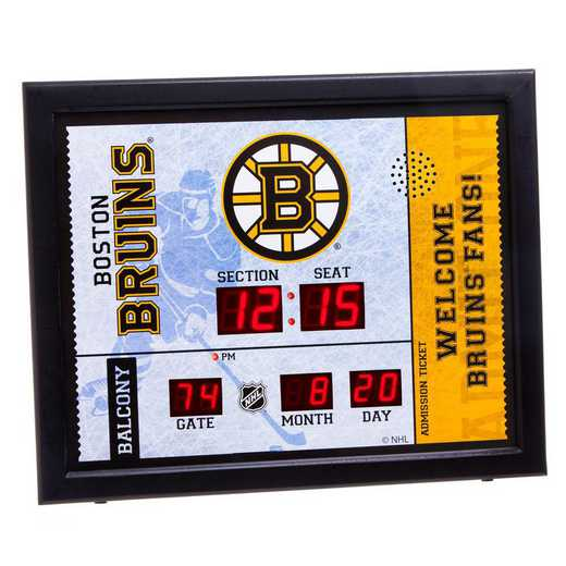 7CL4351: Bluetooth Scoreboard Wall Clock, Boston Bruins