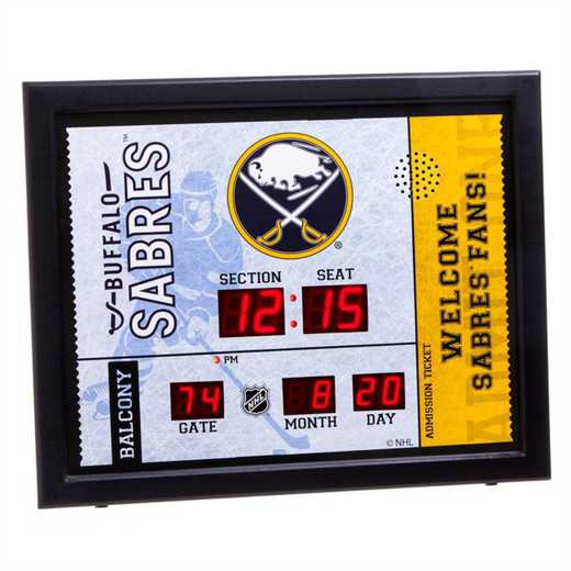 7CL4352: Bluetooth Scoreboard Wall Clock, Buffalo Sabres