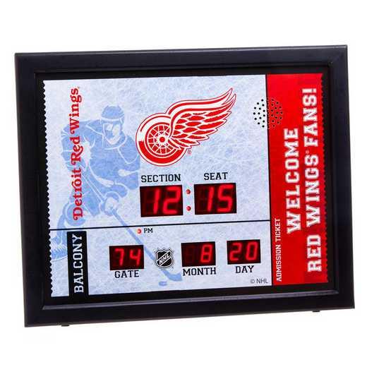 7CL4359: Bluetooth Scoreboard Wall Clock, Detroit Red Wings