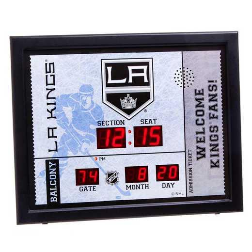 7CL4362: Bluetooth Scoreboard Wall Clock, Los Angeles Kings