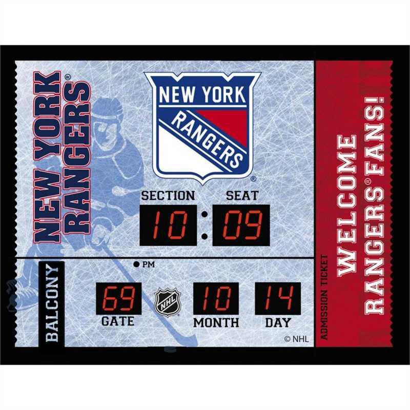 7CL4368: Bluetooth Scoreboard Wall Clock, New York Rangers
