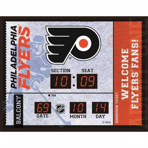 7CL4370B: Bluetooth Scoreboard Wall Clock, Philadelphia Flye