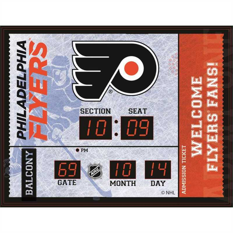 7CL4370B: Bluetooth Scoreboard Wall Clock, Philadelphia Flye