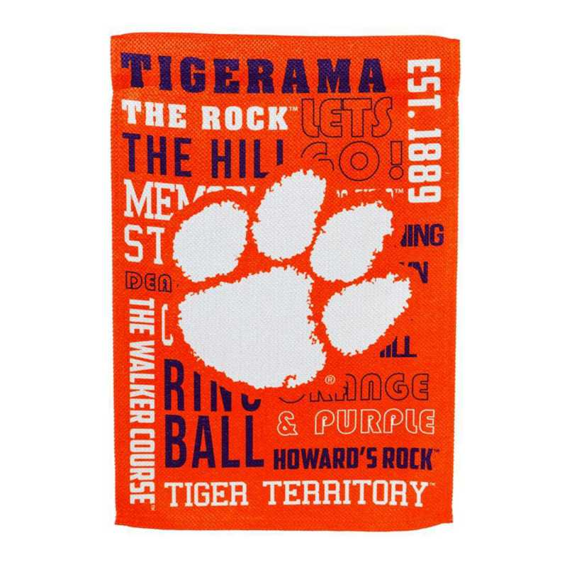 13ES912FR: EG Clemson Fan Rules Flag