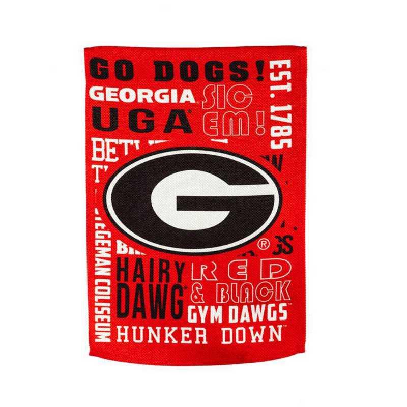 13ES914FR: EG Georgia Fan Rules Flag